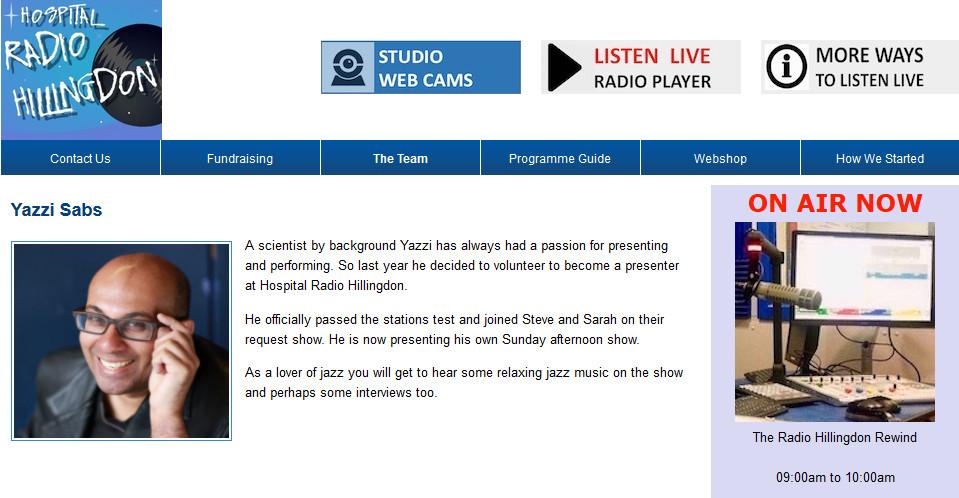 Yazzi Sabs on Hillingdon Radio